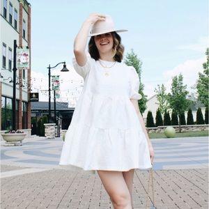 Storets Siena Puff Sleeve Jacquard Dress